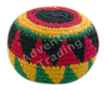Assorted Rasta Crocheted Hacky Sack Guatemalan Footbag